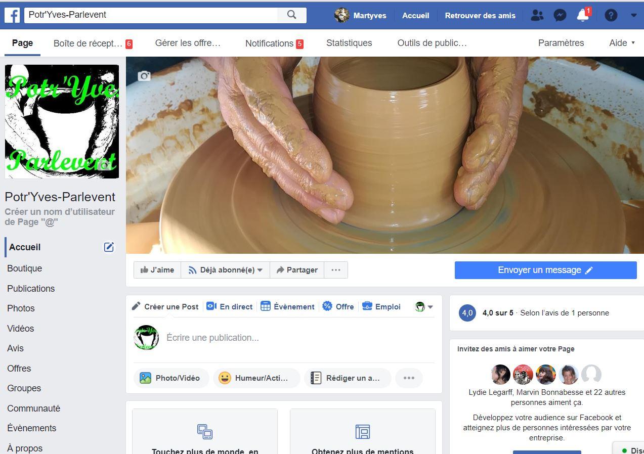 Je suis aussi sur facebook