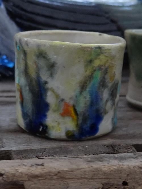 Petit pot multicolor